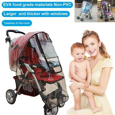 EVA Universal Baby Stroller Pram Rain Cover Pushchair Wind Shield Transparent