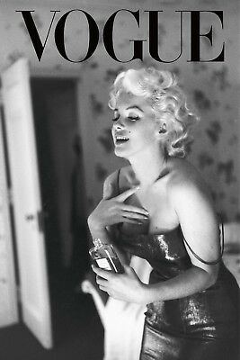 Marilyn Monroe VOGUE Retro Vintage Art & Design Canvas wall  home decor