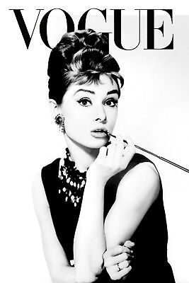 Audrey Hepburn  VOGUE Retro Vintage Art & Design Canvas wall  home decor