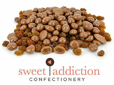 2.5kg Premium Milk Chocolate Covered Sultanas - Bulk Party Brown Candy Buffet