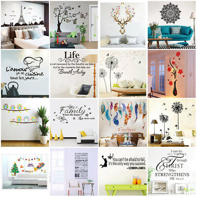 DIY Removable Wall Paper Stickers Art Vinyl Decal Mural Home Bedroom Decor Lot