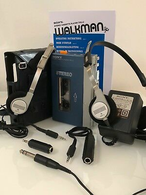 Sony Tps L2 Walkman Bundle Mdr 3L2 Mdr-3 Ac-35 Pc-33