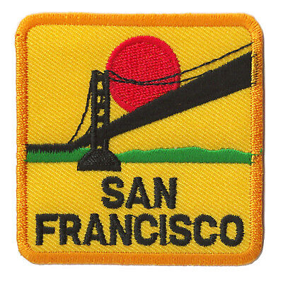 Ecusson patche San Francisco Frisco USA patch voyage patch brodé thermocollant
