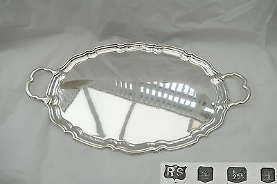 Rare George V Hm Sterling Silver 2 Handled Tray 1933