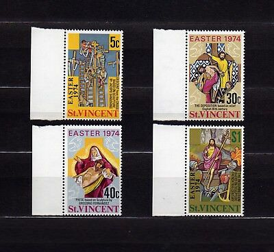 St. Vincent #367-370 Mnh Descent From The Cross & Resurrection