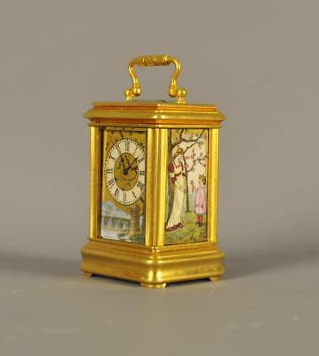 Miniature Carriage Clock Porcelain Panels