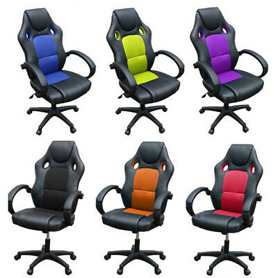 Office Chair Sport Racing Gaming Chairs Car Seat Armchair Executive Computer New