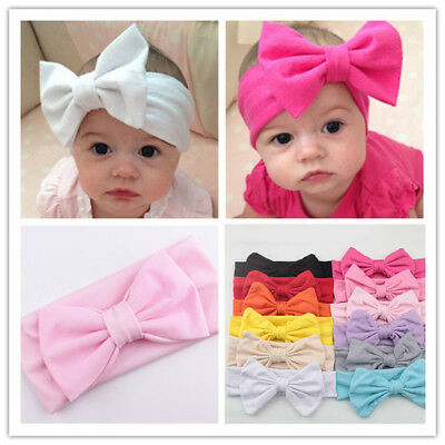 1/10pc Kids Baby Girl Toddler Infant Bow Knot Bowtie Headband Hair Band Headwear