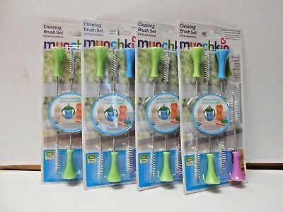 LOT OF 4 Munchkin Cleaning Brush Set 4 Brushes BPA FREE PB