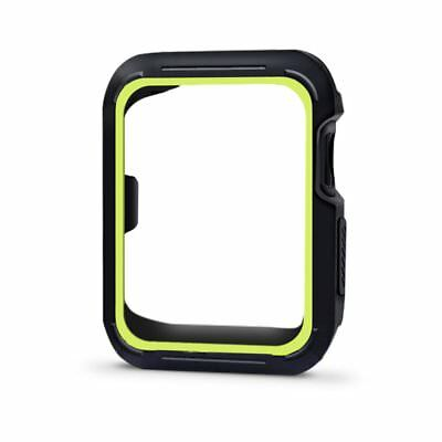 Rugged Silicone Case Cover Bumper For Apple Watch 42mm Series 3 2 1 Black Volt