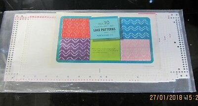 Brother Lace Patterns For Knitting Machine - Punch Card Set. Vol 10 - 431-440