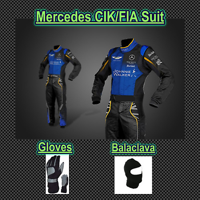 Mercedes Go Kart race suit (includes suit, gloves, balaclava) free bag - CIK/FIA