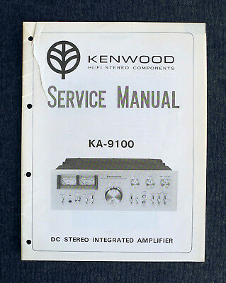 kenwood ka 9100 reparaturanleitung service manual eur 16 99 rh picclick de Kenwood KA- 8300 Kenwood KA 8100 Modifications