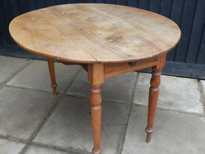 Dining table, drop leaf, antique, Victorian, ash wood