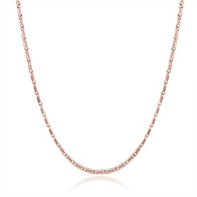 Women's Necklace Pendant Chain 18K Rose Gold Filled 18''Link Fashion Jewelry New