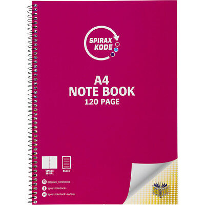 Spirax Kode 120 Page A4 Note Book - Green