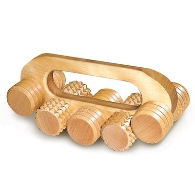 Wooden Universal Massager Roller w/Handle Made in Russia Natural Eco Birch