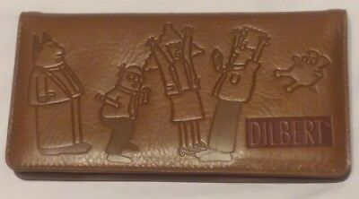Leather Checkbook Organizer Wallet - DILBERT - New without Tags
