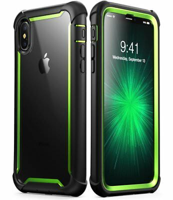 Apple iPhone X Case Tough Dual Layer Built in Screen Protector Cover Anti Drop