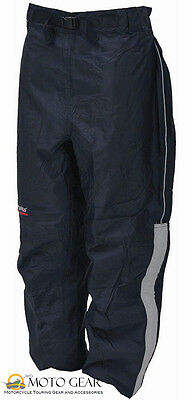 frogg toggs ToadSkinz Reflective Motorcycle Rain Pants Large Black NTH85105-01