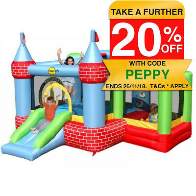 Happy Hop Airflow Inflatable Farmyard Ballpit Jumping Castle/Bouncer Outdoor Fun