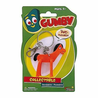New Pokey Keychain Toy Bendable Keyring Key Chain Ring Horse Gumby Pony