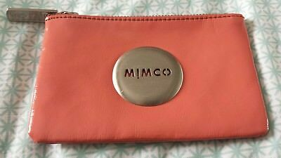 MIMCO Small Pouch Wallet Coin Purse Orange Coral Pink Pewter A1