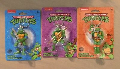 Lot Of 3 Teenage Mutant Ninja Turtles Keychains