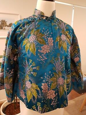 Vintage Chinese oriental 1950's swing jacket excellent condition XS