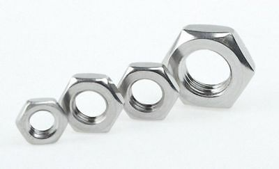 304 Stainless Steel Select Size M4 - M23 Thin Hex Nuts Right Hand Fine Thread