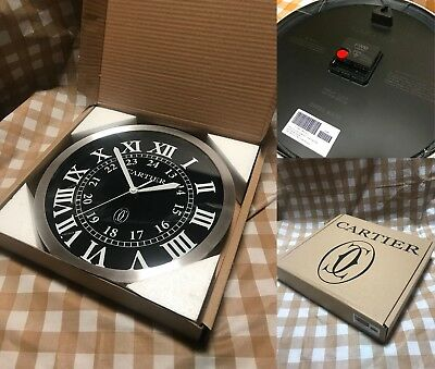 Not for sale CARTIER Wall Clock Dealer Display Clock Quarts New in Box Rare