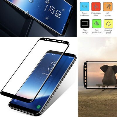 For Samsung S9 S8 S7 S6 Edge Plus Tempered Glass Screen Protector Film Curved P1