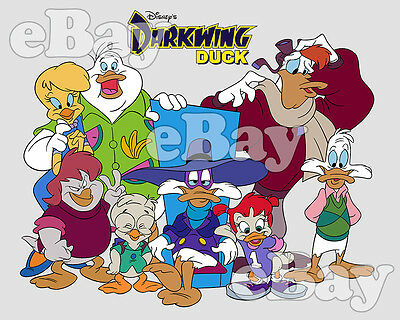 NEW!! EXTRA LARGE! DISNEY'S DARKWING DUCK Cartoon Poster Print DISNEY AFTERNOON
