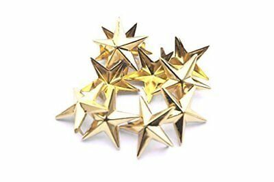 50pcs Star Punk Studs Hand Press Rivets for Bracelets Shoes Clothes Crafts-10mm