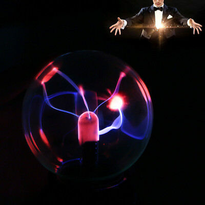 Magic USB Sphere Lightning Lamp Party Black Base Glass Plasma Ball Fashion  Gift