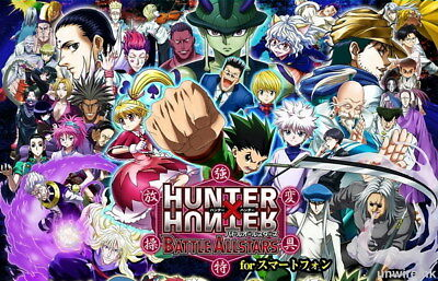 "024 Hunter X Hunter - Neferpitou Gon Killua Fight Anime 37""x24"" Poster"