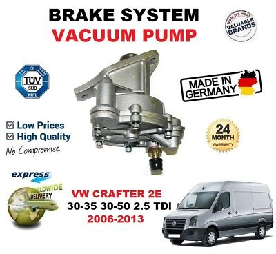 FOR VW CRAFTER 2E 30-35 30-50 2.5 TDi 2006-2013 BRAKE SYSTEM VACUUM PUMP + SEAL