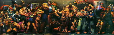 "001 Street Fighter - Fight Ryu Guile Ken ChunLi Game 77""x24"" Poster"