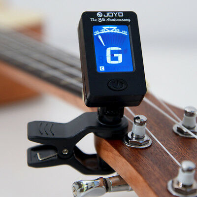 For Bass Ukelele Acoustic Guitar LCD Digital Electronic Clip on Tuner 306° AU