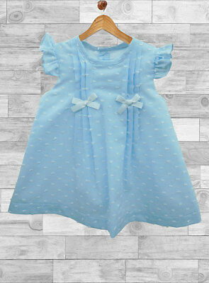 Beautiful Summer Spanish Baby Girl Blue Dress Alber