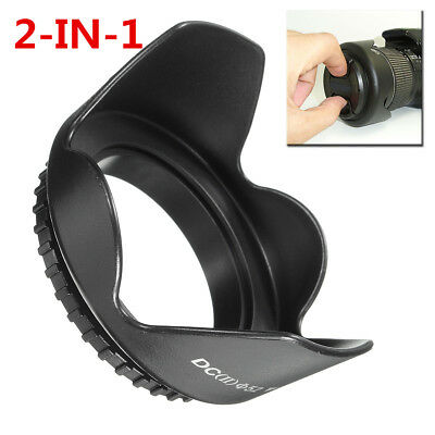 UK 52mm Reversible Petal Camera Lens Hood For Nikon D3100 D3200 D5200 D7000