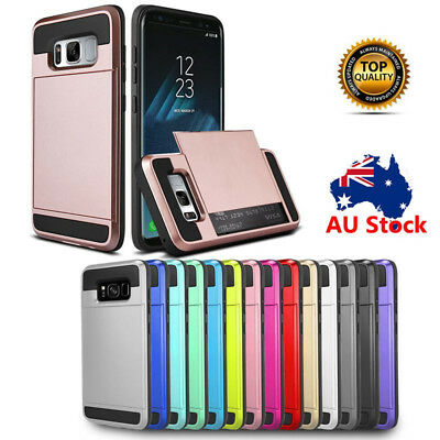 Slide Card Slot Armor Shockproof Case Cover For Samsung Galaxy Note 8