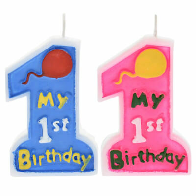 1 Pc My 1st Birthday Candle Number Design Cake Decoration Kids Party Supplies