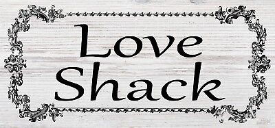 Love Shack New Garden Gift Novelty Shabby Chic Plaque Sign Waterproof shed