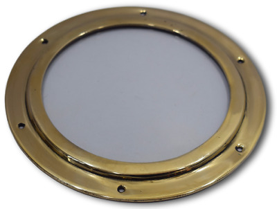 Porthole nautical ship boat window without glass solid brass 10.25''  1.400 kg