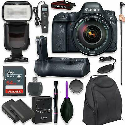 Canon EOS 6D Mark II DSLR with EF 24-105mm f/4L IS II USM Lens +  (17 items)