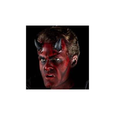 Black Realistic Devil Horns Prosthetic Make Up Fancy Dress