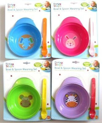 First Steps Jungle Pals Bowl Spoon Weaning Set 6M+ Travel Feeding Sets