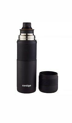 Contigo 25 oz. Thermalock Stainless Steel Travel Thermal Bottle Mug - Black, NEW