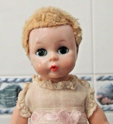 """1956 Mme. Alexander 8"""" LITTLE GENIUS DOLL and COMPLETE ORIG.TAGGED OUTFIT~DIAPER"""